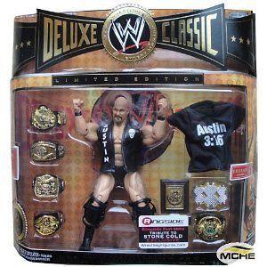 WWE DELUXE CLASSIC STONE COLD STEVE AUSTIN LTD EDITION TRIBUTE HOF W