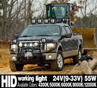 55W 9V 33V HID XENON WORK  WORKING LIGHT  SUV TRACTOR TRUCK OFF