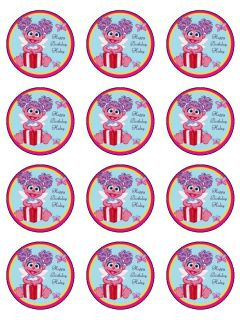 Abby Cadabby edible cake image topper 12  cup cake