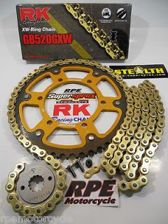 04 07 SUPERSPROX 520 GXW QUICK ACCEL CHAIN AND SPROCKETS KIT