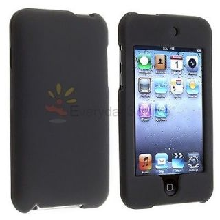 Newly listed BLACK HARD RUBBER COATED CASE COVER FOR IPOD TOUCH ITOUCH