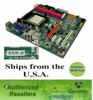 Acer Gateway ECS MCP61PM GM AM2 mATX Desktop Motherboard 4006254R