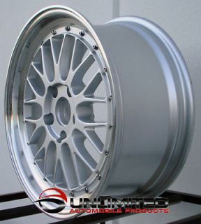 Staggered Silver Polish Lip Wheels Rims Fit Acura NSX TSX Ford Mustang