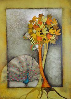 Rodo Boulanger  Un Paon Pour Sophie  Original Lithograph Artwork