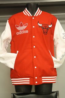 6895A ADIDAS ORIGINAL NBA CHICAGO BULLS WOOL VARSITY JACKET CLASSIC