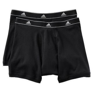 Adidas athletic comfort climalite boxer briefs cotton two pack Black