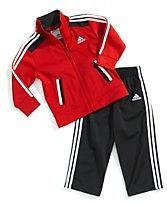 ADIDAS NWT 2PC Infant Boys Jacket Pants Top Track Suit 24 24m Red