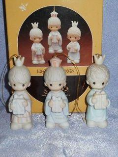 Precious Moments   E5634  MIB  Ornament   WEE THREE KINGS   1984   $
