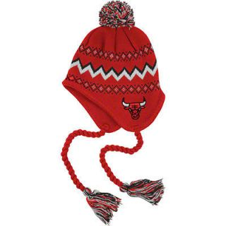 Chicago Bulls Toddler Tassel Knit Beanie hat cap Adidas Team Colors
