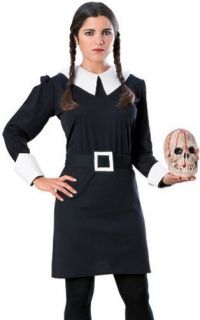 Adult Womens Addams Family Wednesday Halloween Costume