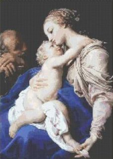 HOLY FAMILY~counted cross stitch pattern #2090~Religiou s Christian