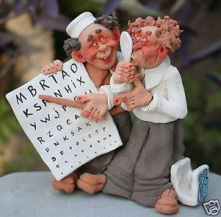 Optometry Optical Eye Doctor & Patient Figurine Optometrist Exam Optic