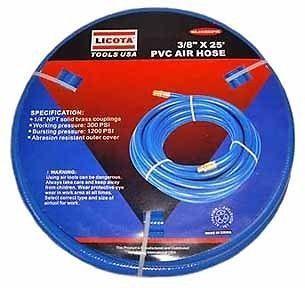 NEW Blue 25 Foot PVC Pressure Air Hose.Oil Resistant.Oper ation P 300