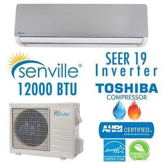 Senville Ductless Heat Pump Split Air Conditioner 19 SEER/Energy Star