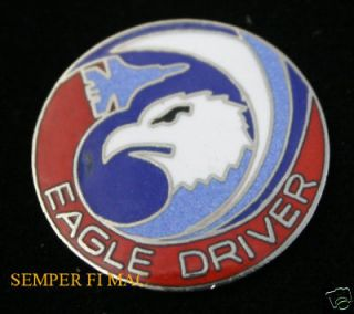 AUTHENTIC F15 EAGLE DRIVER US AIR FORCE HAT PIN FIGHTER