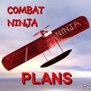 CONTROL LINE COMBAT AIRPLANE NINJA ARTICLE PLANS