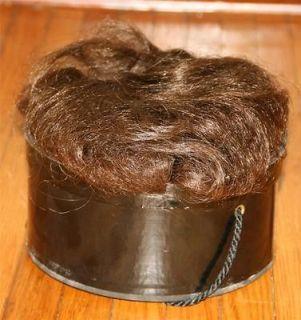 Vtg Adolfo 100% Real HUMAN HAIR WIG Clip In wiglet top piece bob