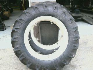 12.4x28 FORD JUBILEE 2N 8N Farm Tractor Tires w/Rims & (2)550x16 3