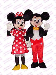 Top Sales 2 PCS/LOT Mickey & Minnie Mouse Mascot Costume Fast Delivery