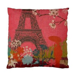 Paris Eiffel Towers & Flowers Throw Pillow Cushion Covers ~ Lounge