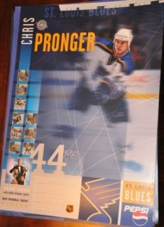 CHRIS PRONGER St Louis BLUES NORRIS POSTER SGA 24X17