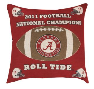 ALABAMA CRIMSON TIDE 2011 CHAMPIONSHIP PILLOW 26 INCHES NEW