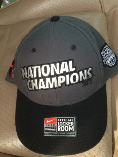 Alabama 2012 BCS National Championship Official Curved Bill Coaches