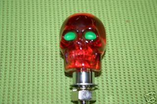 Lighted Skull Light Rat Rod Kustom 3rd Brake Shifter