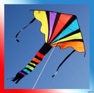 New Delta Rainbow Kite Single Line Outdoor Fun Beach/Park Toy 44 W