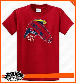 Trout   Mike Trout   Anaheim Angels   T Shirt   Red Shirt