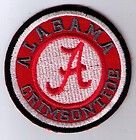 NCAA ALABAMA CRIMSON TIDE EMBROIDERED SEW PATCH
