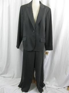 Newly listed NWT Anne Klein Womens 2 Piece Suit Charcoal Gray