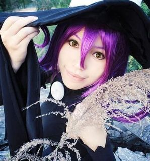 Soul Eater Blair Purple Cosplay Wig Costume long purple costome fasion