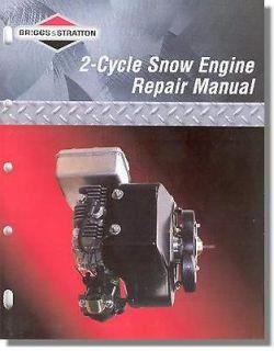 BRIGGS & STRATTON Genuine 2 Cycle Snow Small Engine Repair Manual