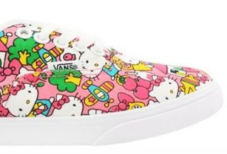 New Vans Authentic Lo Pro Hello Kitty Skate Womens Sneaker All Sizes