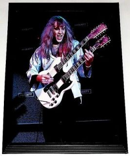 RUSH ALEX LIFESON GIBSON EDS 1275 DOUBLE NECK FRAMED PORTRAIT TRIBUTE