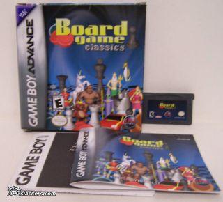 Board Game Classics (Game Boy Advance) COMPLETE IN BOX
