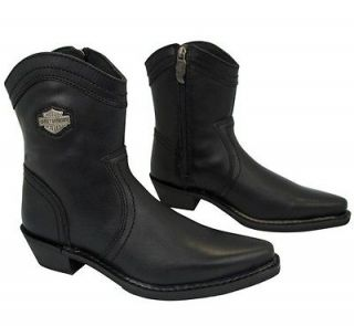 NEW Harley Davidson Cammie Black Leather Womens Boots