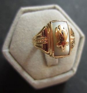 1963 Northwood High School Class Ring Size 5 10k Yellow Gold