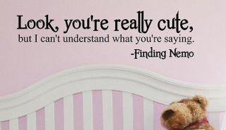 FINDING NEMO VINYL LETTERING HOME WALL DECALS DISNEY NURSERY BABY ROOM