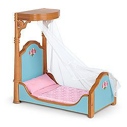 listed Marie Grace Cecile American Girl doll Half Canopy Bed NIB NEW