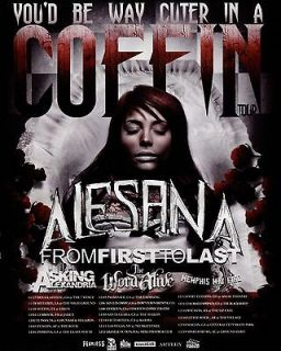 Mini POSTER / Ad RARE Alesana From first to last Asking alexandria