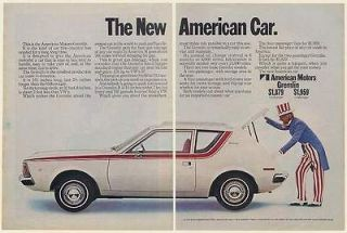 1970 AMC American Motors Gremlin The New American Car Uncle Sam 2 Page