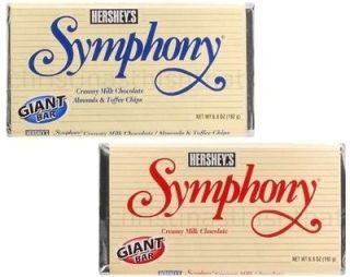 Symphony Milk Chocolate Toffee Almonds 6 ~ 6.8 oz. Giant Candy Bars