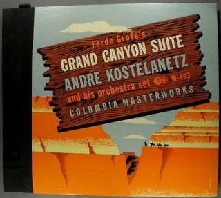 Grofe Grand Canyon Suite 78 RPM Andre Kostelanetz Columbia Masterworks