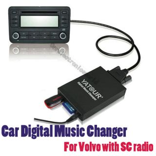 Car Digital CD Changer USB SD AUX Adapter Music  Player for Volvo