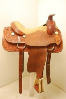 Used 15.5 Dale Fredrick Team Roping saddle (#UDFTR15512CO MB)