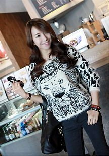 Lion Knit Angora Casual Women High quality Korean Clothing style Girl