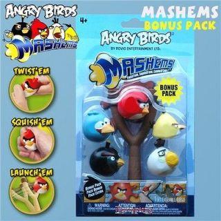 Angry Birds Mashems Bonus Pack inc Catapult Launcher Black Red Yellow