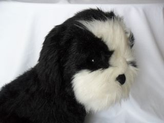 and Doug Black White Dog Plush Shih Tzu Toy Stuffed Animal 18 Tall